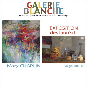 Expo de Mary Chaplin et Olga Richir à Giverny du 2 au 15 avril 2016