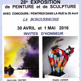 28 ème EXPO PEINTURE ET SCULPTURE à BOSGOUET 30 avril et 1er mai2016