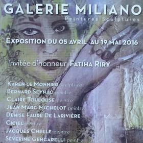 Exposition Galerie Miliano à Evreux jusqu'au 19 mai2016