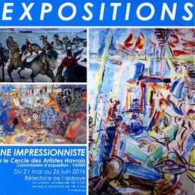 EXPOSITIONS SCENE IMPRESSIONNISTE à MONTIVILLIERS du 21 mai au 26 juin2016
