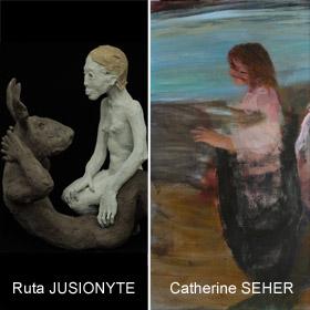 Expo de Ruta JUSIONYTE et Catherine SEHER à Honfleur du 3 Septembre au 9 octobre2016