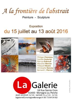 expo A LA FRONTIERE DE L'ABSTRAIT Mortagne
