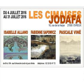 Expo Isabelle ALLANO Fabienne SAPOWICZ Pascale VINE à Evreux jusqu'au 31 juillet2016