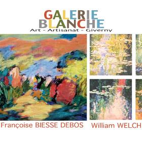 Expo Françoise BIESSE DEBOS et William WELCH Galerie Blanche jusqu'au 14 octobre2016