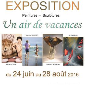Exposition collective Un air de vacances à Bellême (61) jusqu'au 28 août2016