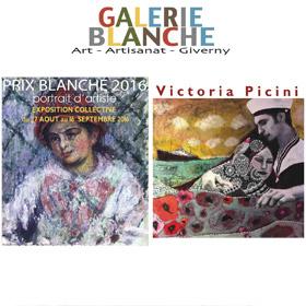 Expo Collective et de Victoria PICINI Galerie Blanche jusqu'au 16 septembre2016