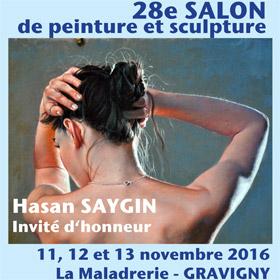 28ème Salon de peinture et de sculpture à Gravigny du 11 au 13 novembre2016