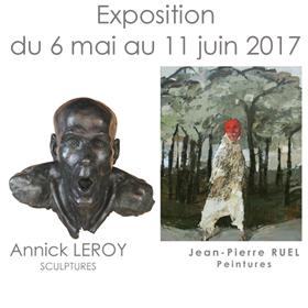 Exposition de Jean Pierre RUEL et Annick LEROY à Honfleur du 6 mai au 11 juin2017