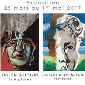 Exposition de Julien Allègre et Laurent Betremieux à Honfleur du 25 mars au 1er mai2017