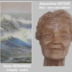 Exposition d'Alexandrine DIETZER et Denis HERNANDEZ à Barneville Carteret du 30 juin au 10 juillet2017