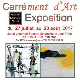 Exposition Carrément d'Art à Bellême (61) du 27 juillet au 22 août2017