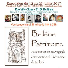 Exposition ART & PATRIMOINE à Bellême (61) du 12 au 23 juillet2017