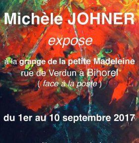 Exposition Michèle Johner à Bihorel (76) du 1er au 10 septembre2017