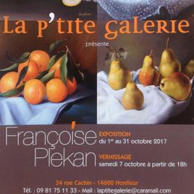 Exposition Françoise PLEKAN à Honfleur(14) du 1er au 31 octobre2017