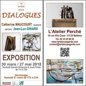 Exposition Peinture-Sculpture «Dialogues» à Bellême(61) du 30 mars au 27 mai2018