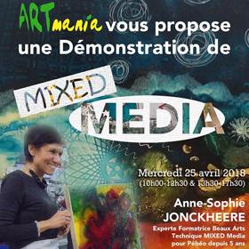 Démonstration de Mixed Media à Rouen – mercredi 25 avril2018