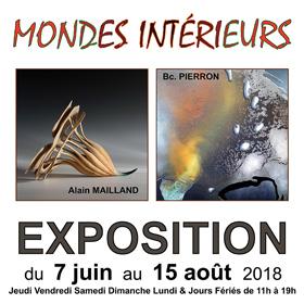 Exposition Mondes Intérieurs à Bellême(61) du 7 juin au 15 août2018