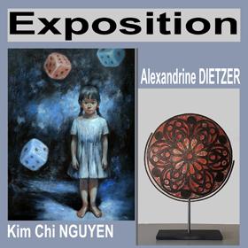 Exposition A. Dieztzer & Kim Chi NGUYEN à Portbail(50) du 30 avril au 13 mai2018