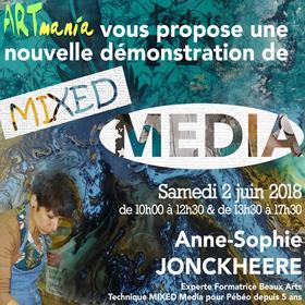 Nouvelle journée démo MIXED MEDIA Artmania Rouen le 2 juin2018