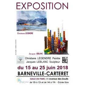 Exposition Peinture & Sculpture à Barneville-Carteret(50) du 15 au 25 juin2018