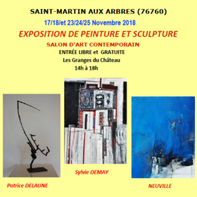 Exposition Peinture et Sculpture à St Martin aux Arbres(76) du 17 au 25 novembre2018