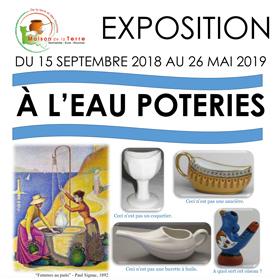 Exposition temporaire : « À l'eau poteries » du 15 septembre 2018 au 26 mai2019