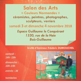 Salon des Arts «Couleurs Normandes» à Bois-Guillaume(76) les 3-4 novembre2018